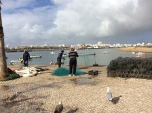 Ferragudos fiskehamn Algarve Portugal
