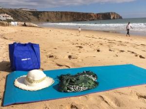 på stranden Algarve Portugal